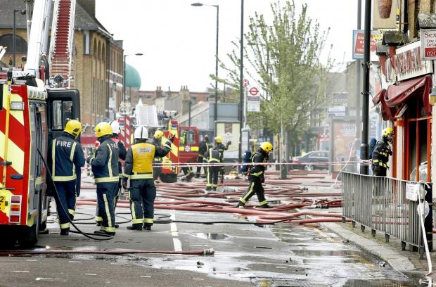 Vadi Restaurant was gutted by the fire in Ponders End last week