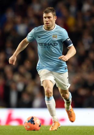 Milner in FA Cup action for the Citizens. Picture: Action Images