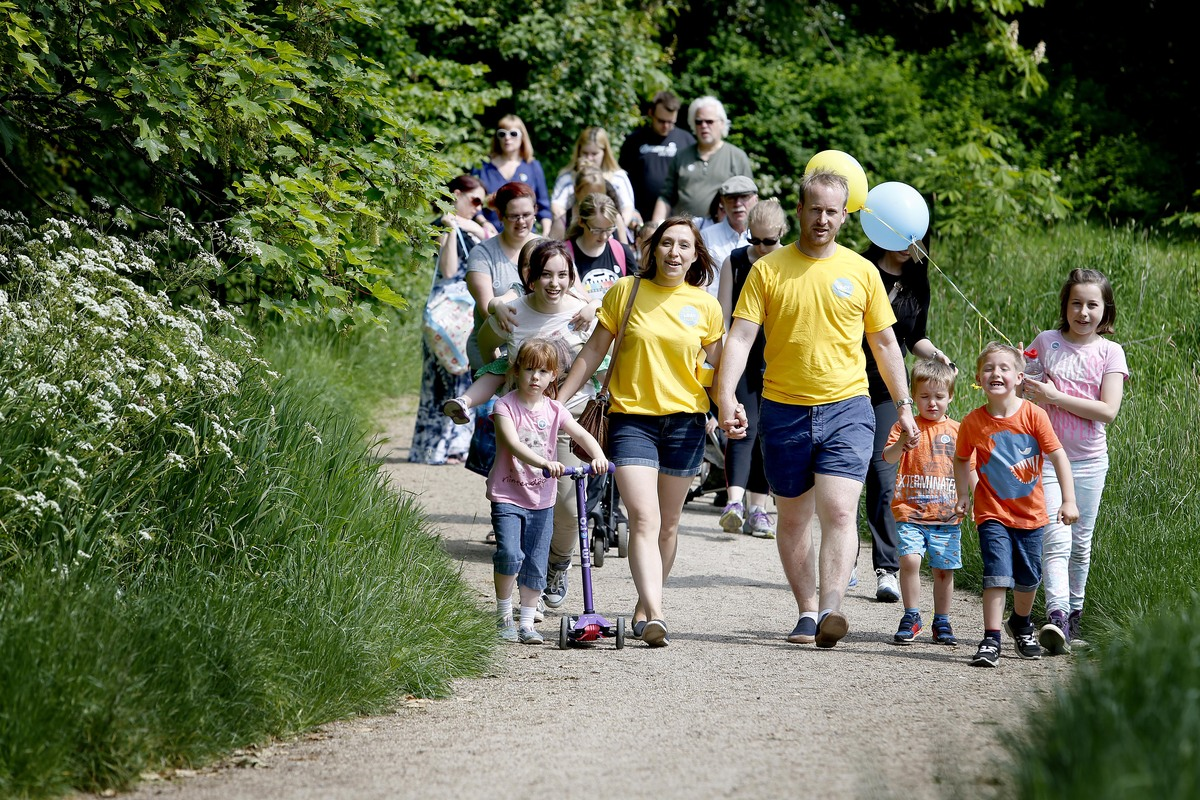 The walk raised £400 for The Lullaby Trust and ended with a balloon release