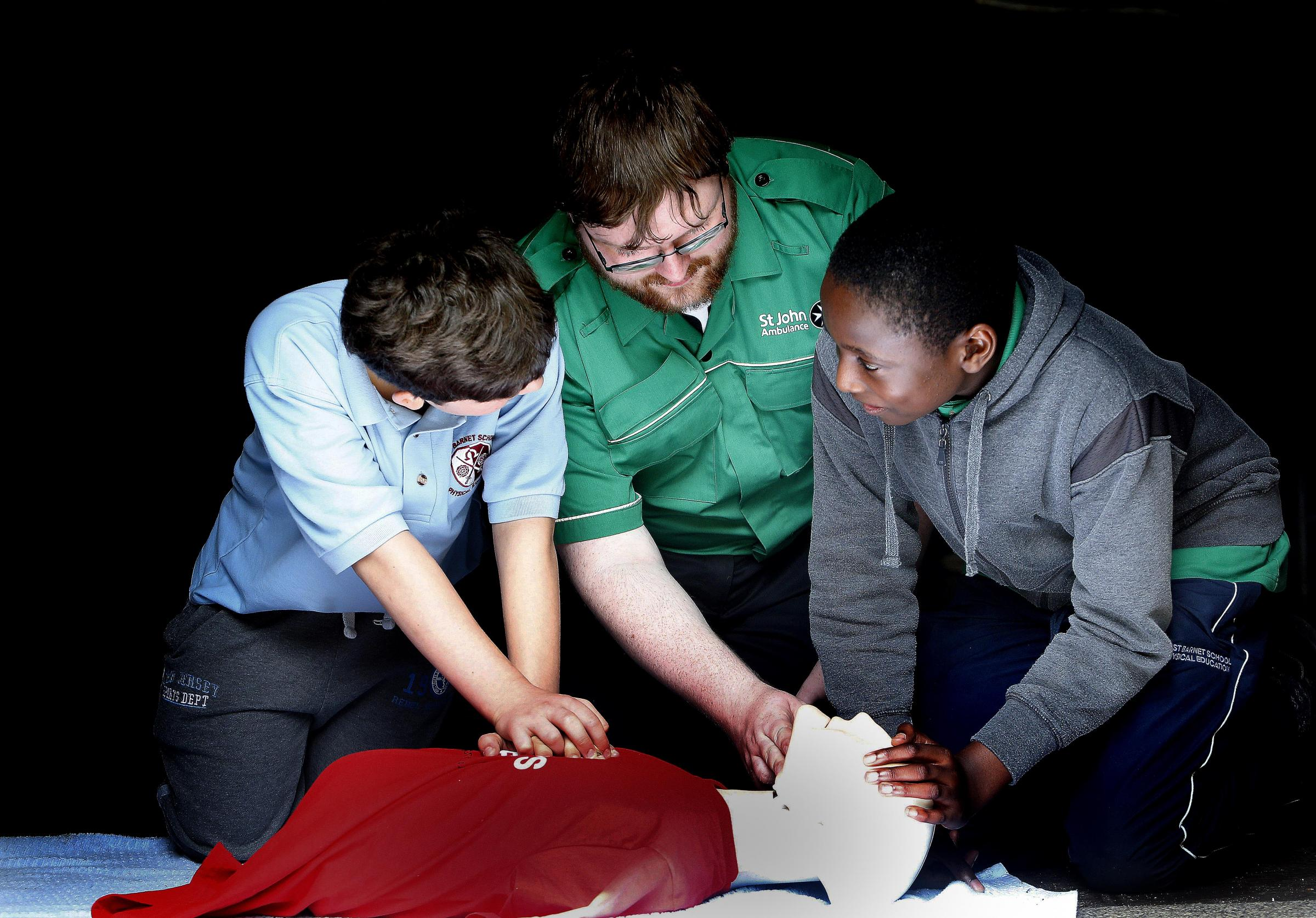 Pupils pitted their first aid skills against each other at Bounds Green Scouts park