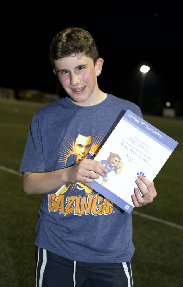 Enfield Independent: Theo Sergiou, 13, of Edmonton, took part in the special game