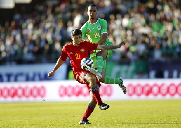 Enfield Independent: Nabil Bentaleb in action for Algeria against Armenia. Picture: Action Images