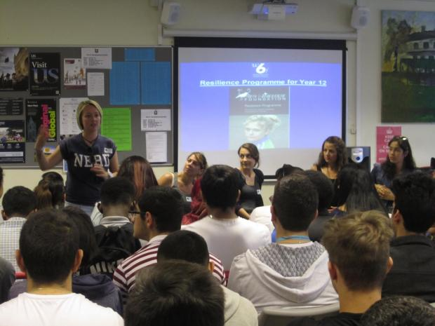 Former drug and drink abusers spoke about their experiences to Winchmore School
