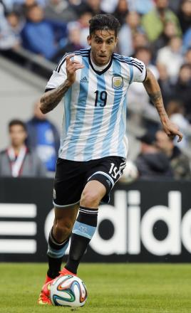Ricky Alvarez in action for Argentina. Picture: Action Images