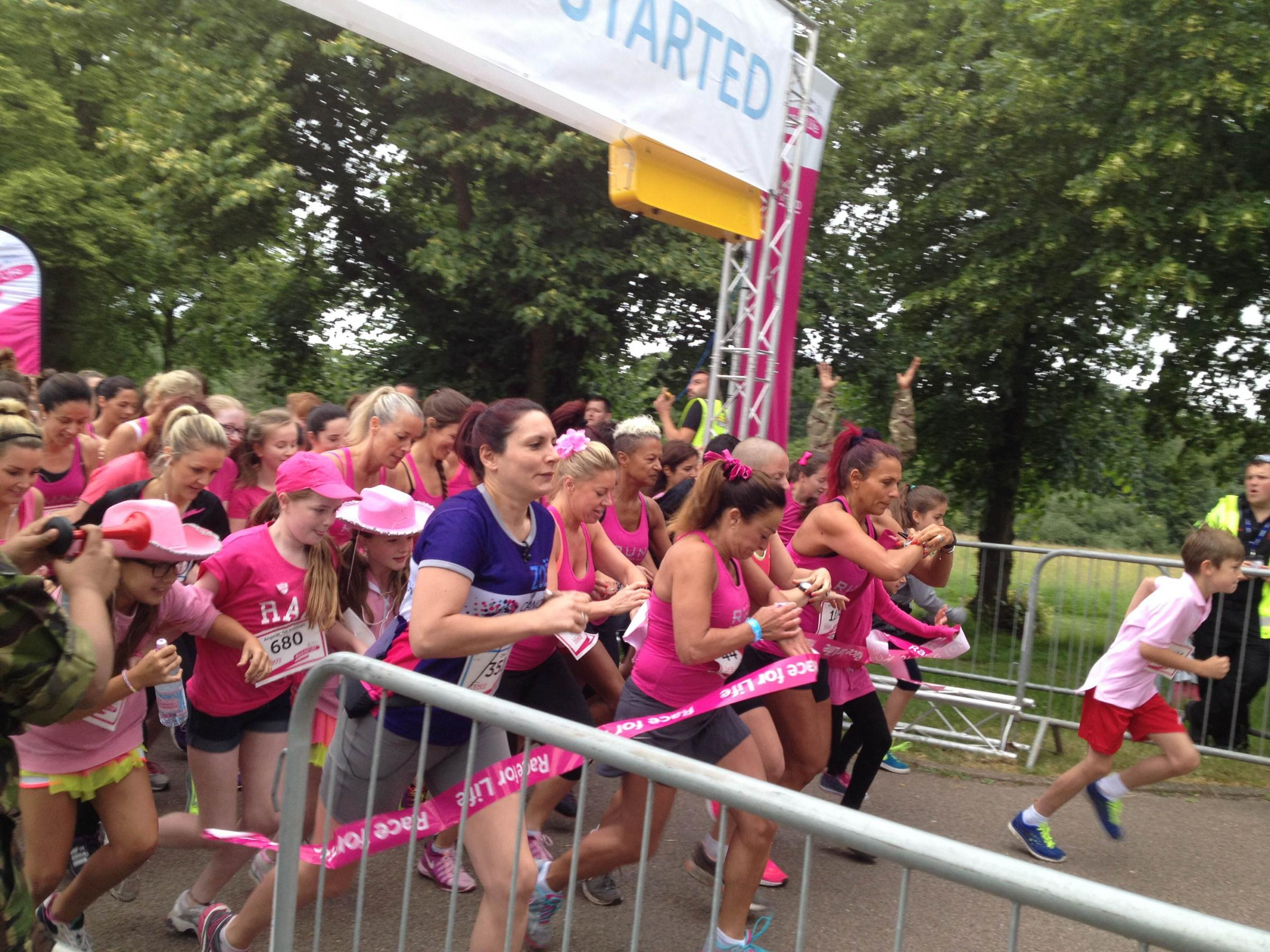 Mighty mums, gutsy grans and feisty friends all took to Trent Park for Cancer Research UK's Race for Life on Sunday morning