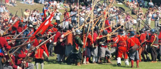Watch a re-enactment of the English Civil war at Forty Hall this month