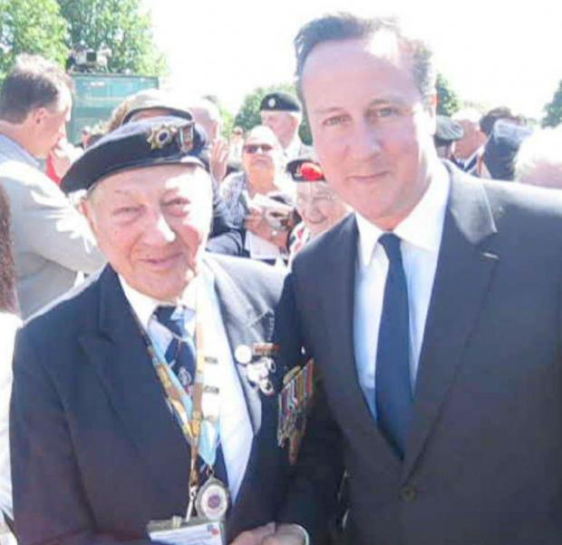 Enfield Independent: Mervyn Kersh, a member of the Southgate Branch (75th) of the NVA, met David Cameron on his trip to Normandy earlier this month