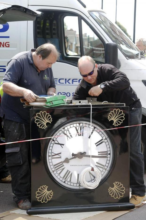 Enfield Independent: Business owners spent more than two years organising funding for the three-sided clock
