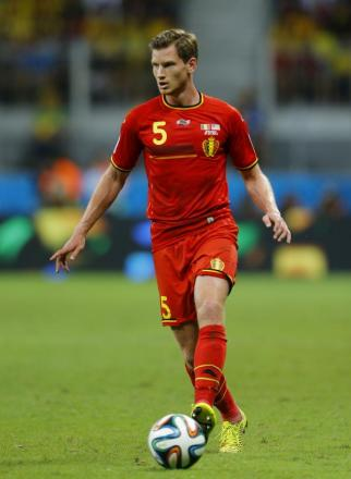 Jan Vertonghen ventures forward with the ball for Belgium. Picture: Action Images