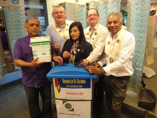Specsavers in Edmonton Green recruited the help of nearby St Edmund's Church in the two-month charity collection
