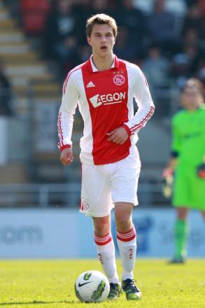 Joel Veltman looks for an opening for Ajax. Picture: Action Images