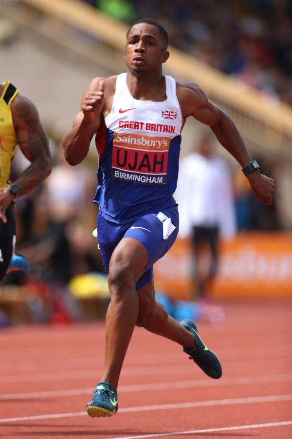 Chijindu Ujah in action at the British Championships. Picture: Action Images