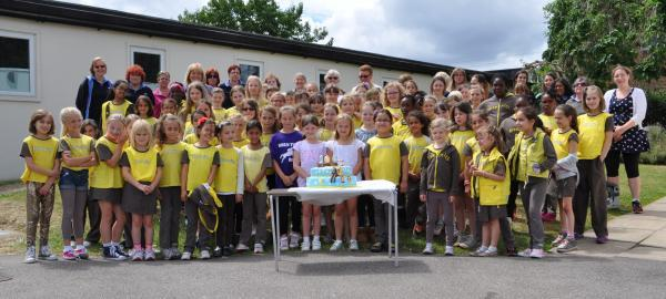 Brownies from Enfield group celebrating its 100th year