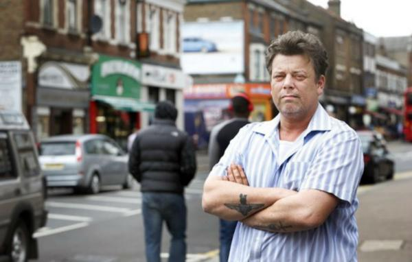 Allan Millwood, shop owner, is highly concerned by the crime spree on Hertford Road