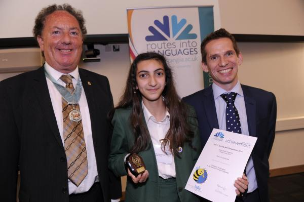 Andriana Chacholiades, of Highlands School, took fourth place in the spelling bee Spanish category
