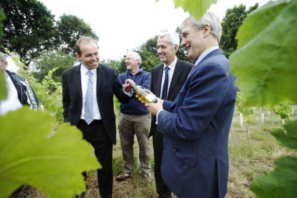 Environment secretary Owen Paterson with Enfield MPs Nick de Bois and David Burrrowes