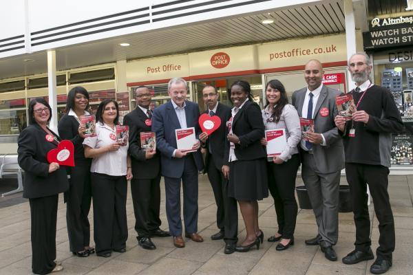 Edmonton MP Andy Love showing his support for the post office current account scheme