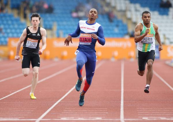 Chijindu Ujah has been selected to represent Team GB at the European Championships. Picture: Action Images