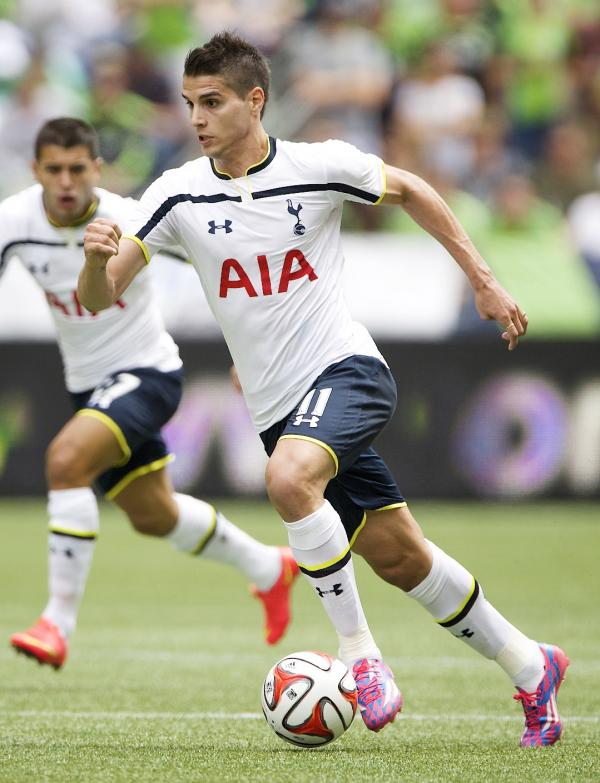 Erik Lamela in action against Seattle Sounders. Picture: Action Images
