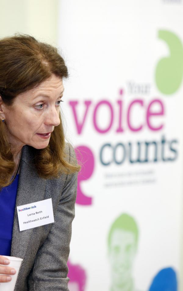Lorna Reith, chairman for Healthwatch Enfield is 'very concerned' by latest figures