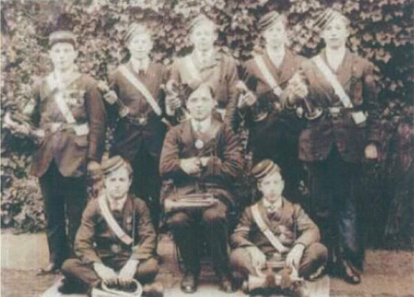 The first Enfield Boys Brigade air raider buglers