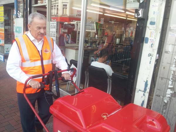 Edmonton MP Andy Love turns postie for the day