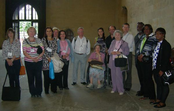 Volunteers touring the Houses of Parliament