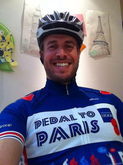 Clyde Muir, aka 'Clydie' will take on the pedal to Paris challenge