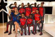 Khyrese Heron, far left, with judge on Got to Dance Kimberly Wyatt