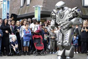 Giant robot lands in Enfield Town