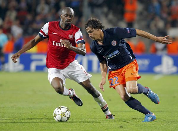 Benjamin Stambouli in Champions League action against Arsenal. Picture: Action Images