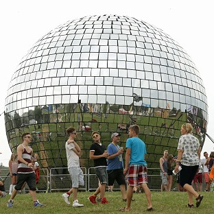 Bestival 2014 features a giant disco ball