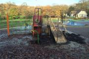 The attack has ruined the play area at Grovelands Park
