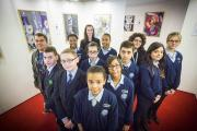 Pupils from Winchmore School created their own art work to mark Holocaust Memorial Day