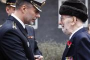 Frederick Thomson receiving his arctic star at the Arctic Convoy memorial event last November