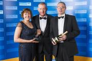 Ian and Susan Marshall collected the award from Steve Davis