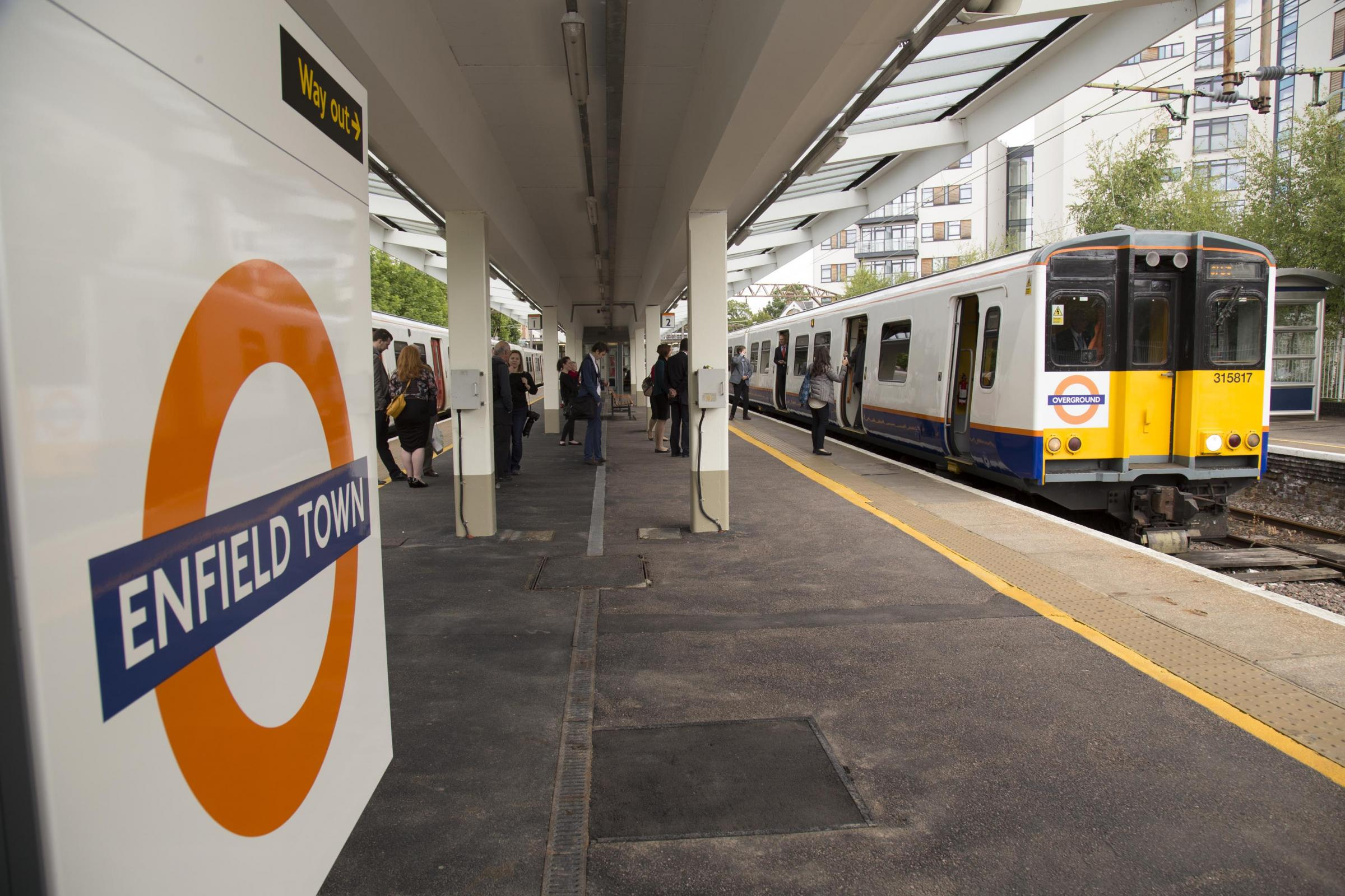 Enfield Town Overground of The Enfield Town Line