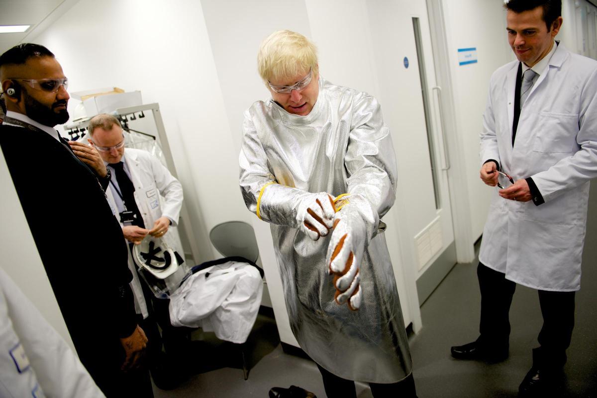 Image result for boris johnson hospital