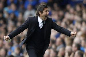 Antonio Conte could be celebrating a title triumph before Spurs next play. Picture: Action Images