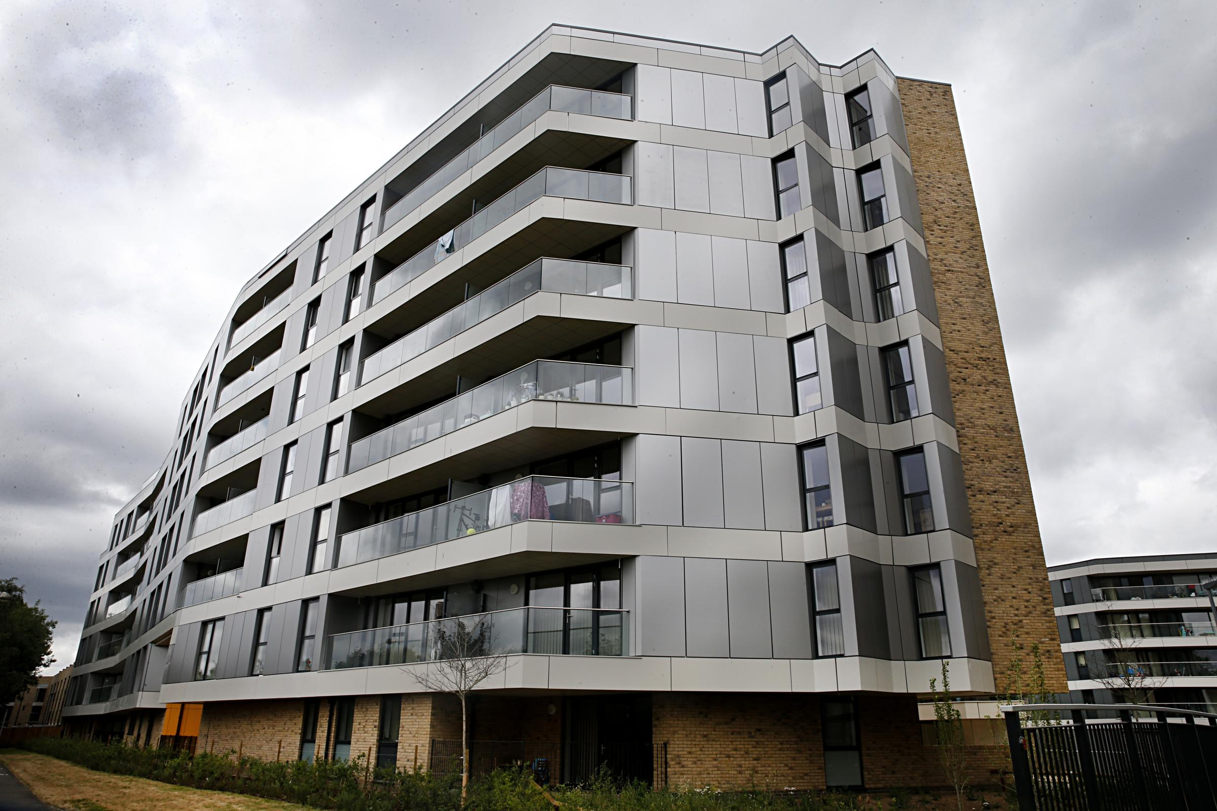 The cladding on Lingfield Apartments in Walthamstow Stadium failed a fire safety test after the Grenfell fire