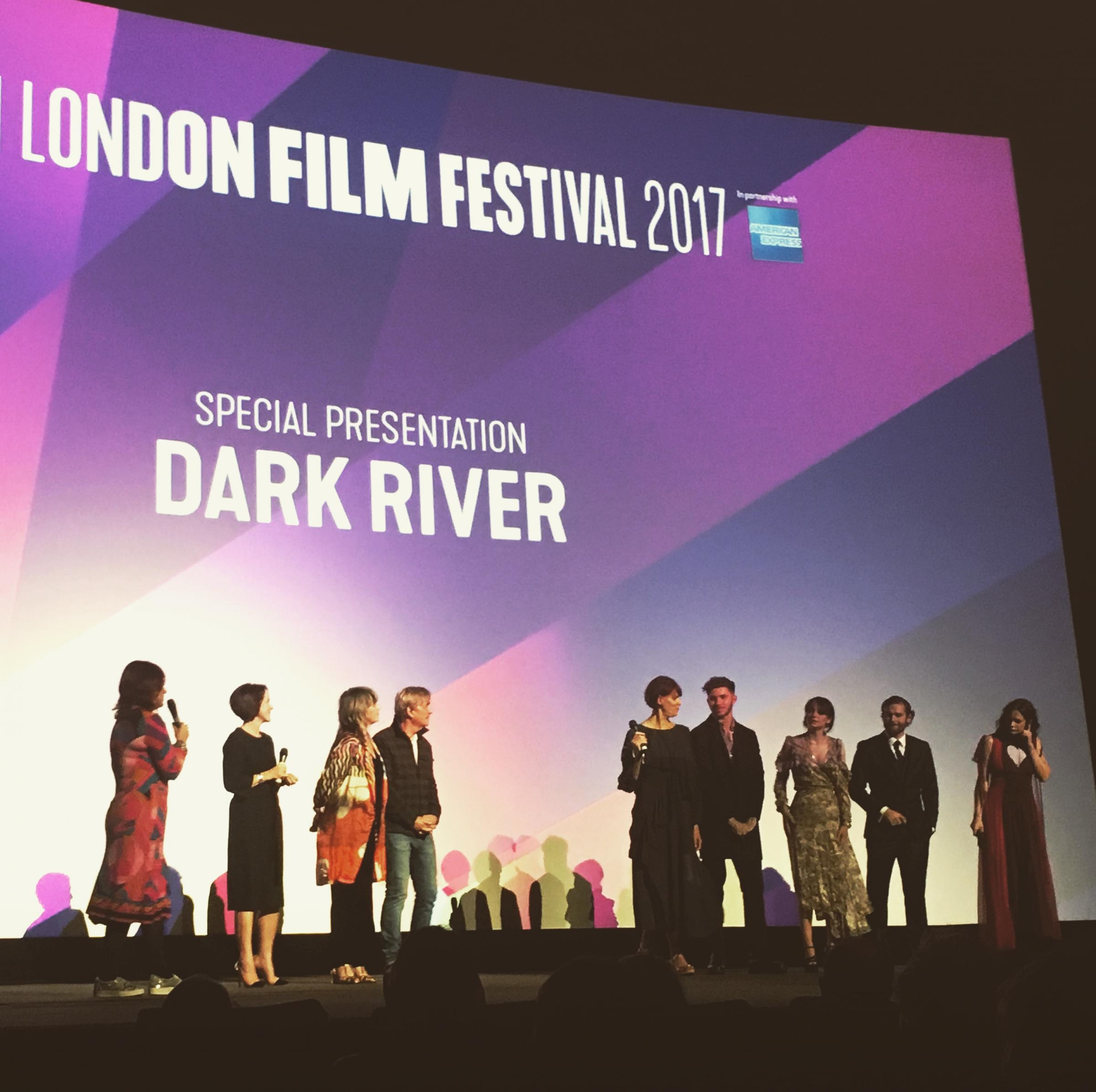 Cast, director and producers of Clio Barnard's Dark River at its festival screening