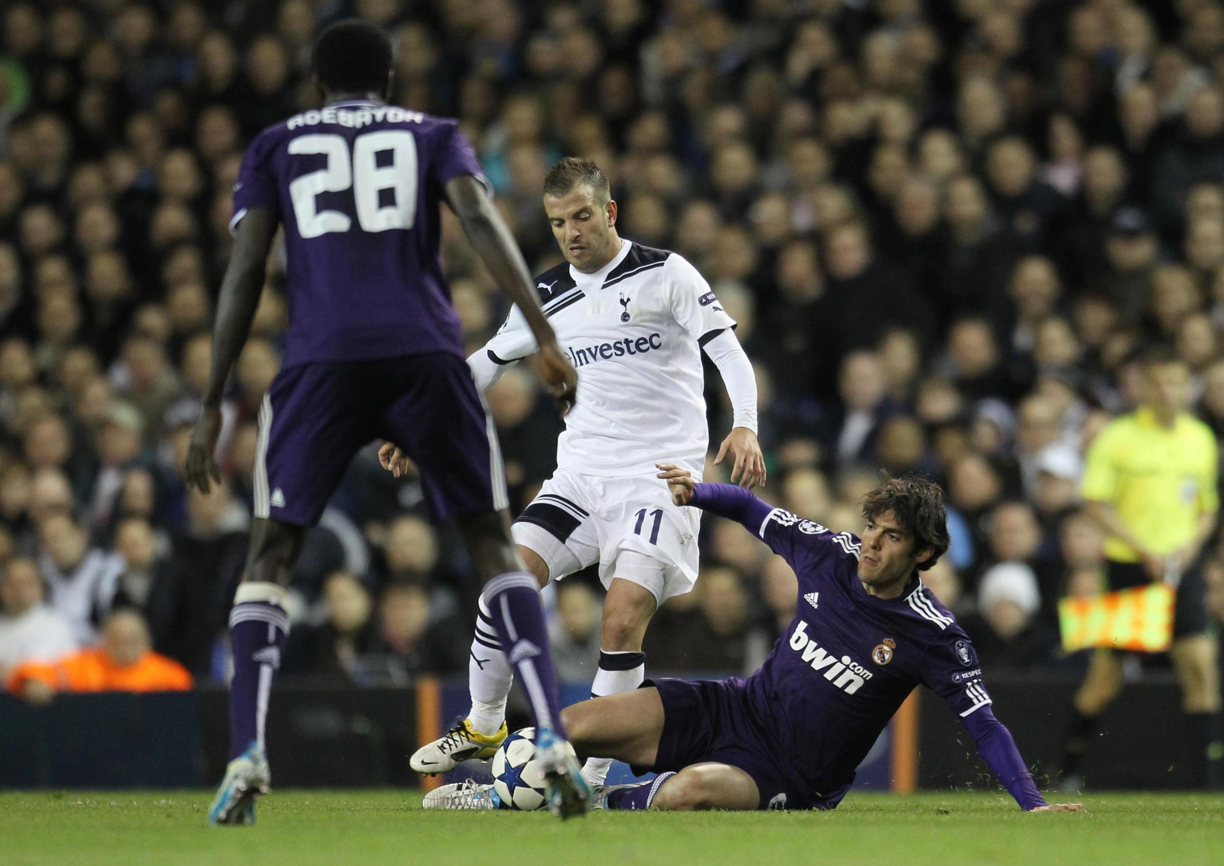 Rafael van der Vaart in action for Spurs in the 2011 quarter-final against Real Madrid. Picture: Action Images