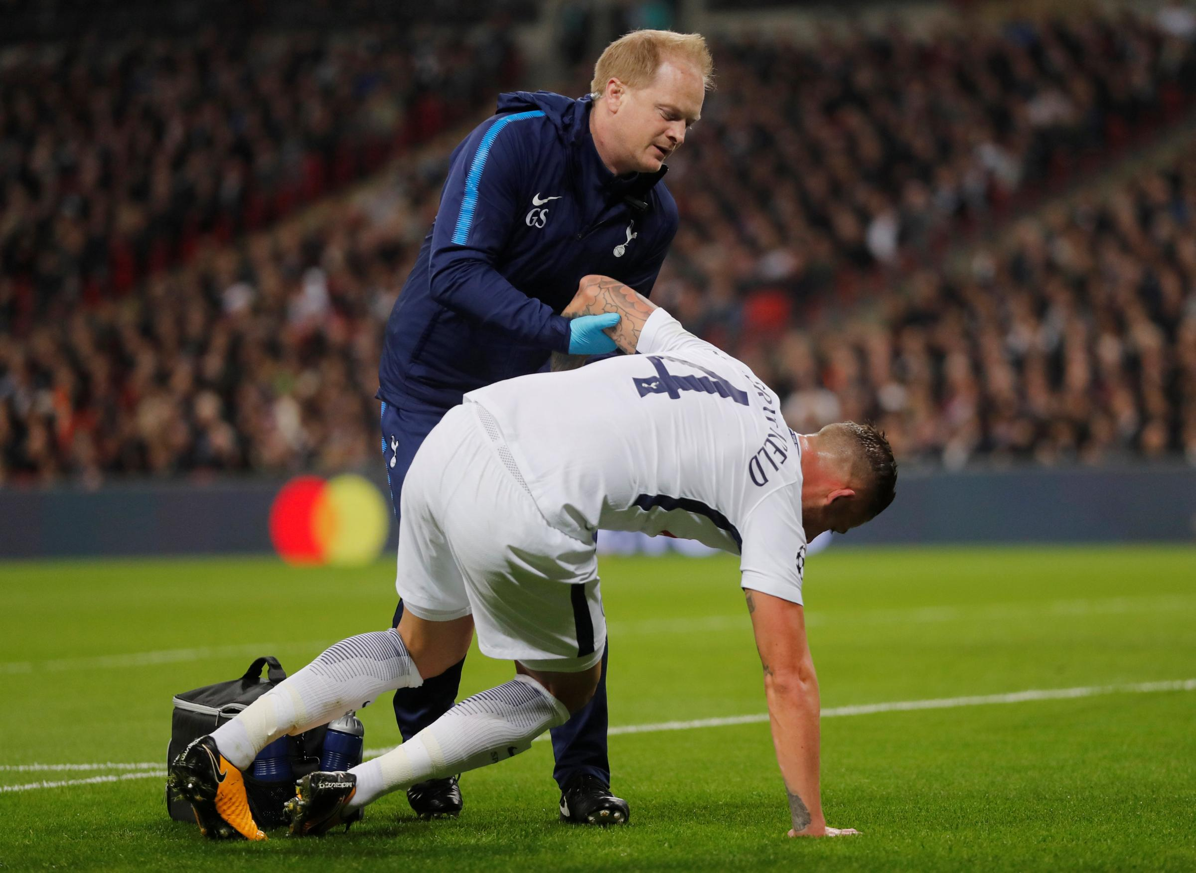 Toby Alderweireld sustained the injury in the Champions League win against Real Madrid. Picture: Action Images