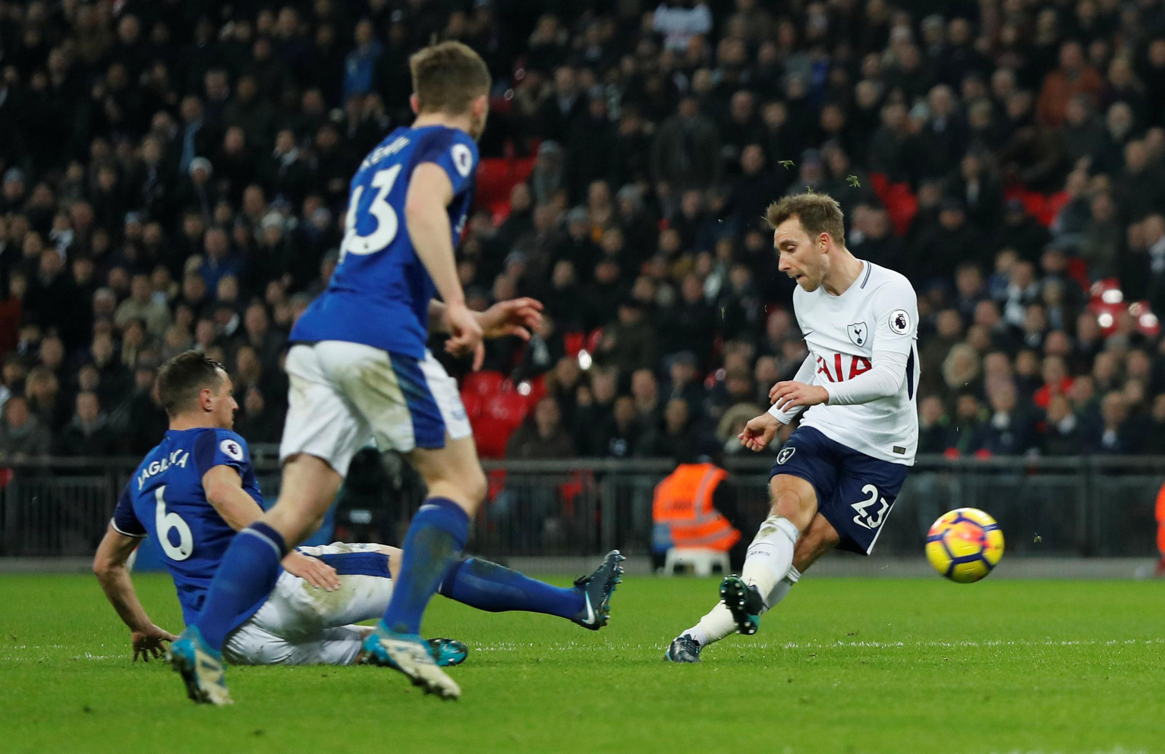 Christian Eriksen could return for Spurs at Old Trafford. Picture: Action Images