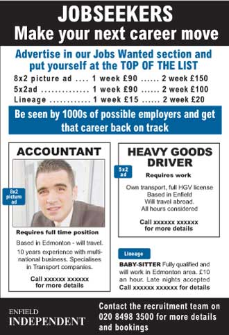 Enfield Independent: Jobseekers - Enfield Independent