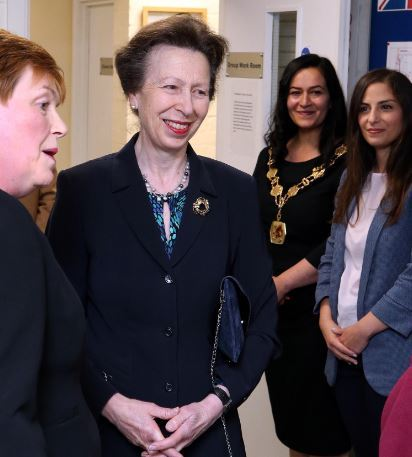 HRH Princess Royal at the Enfield Youth Offending Unit