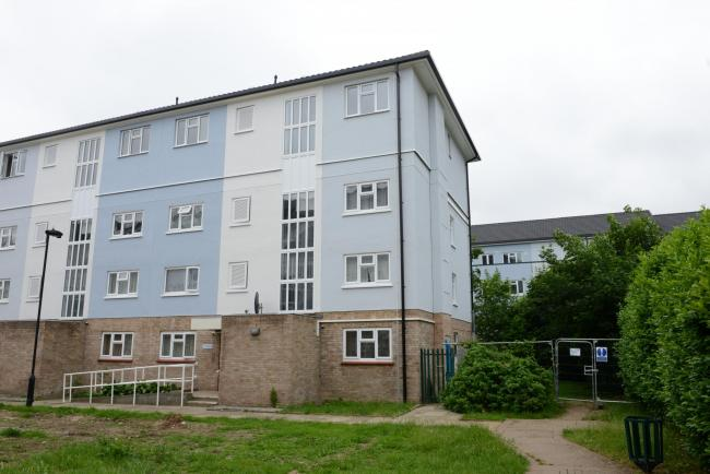 The flats on Lytchet Way