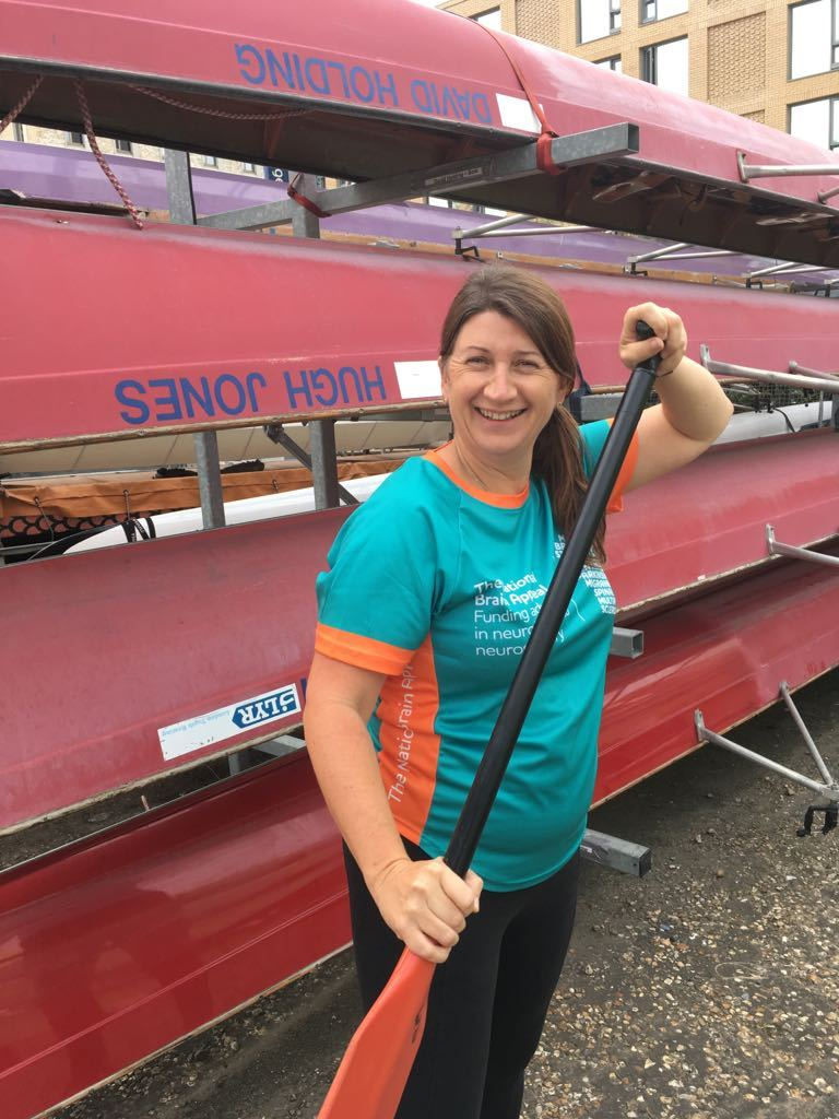 Theresa Dauncey joined the rowers to raise money for a hospital