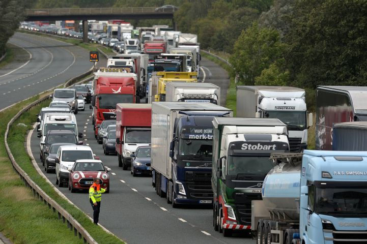 An accident, a gas leak and heavy traffic - It's just another manic Monday