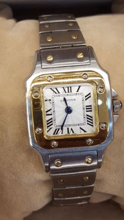 The stolen Cartier Watch